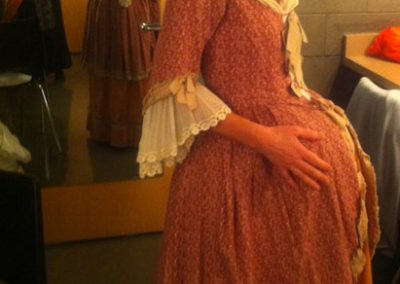 Heather Pawsey as a very pregnant Susan Allison